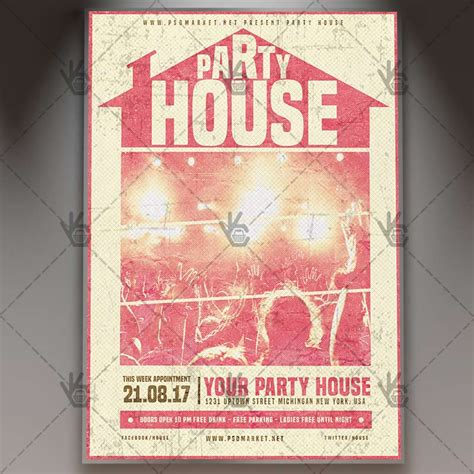 house party flyers design house party night premium flyer psd template psdmarket