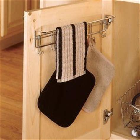 kitchen cabinet mounted towel bar cabinet door hook towel rack hanging small organizer wall