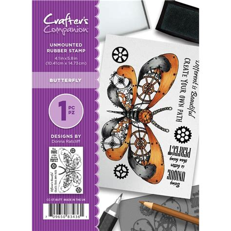 unmounted rubber st crafter s companion butterfly unmounted rubber st set
