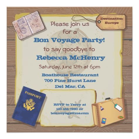 bon voyage invitation templates free personalized bon voyage invitations custominvitations4u