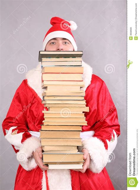 how will santa get in books santa claus with a lot of books stock image image 3658609