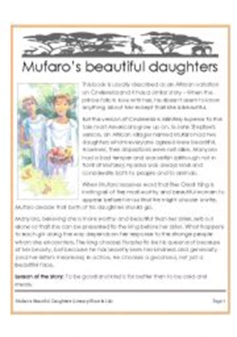 printable version of cinderella mufaros daughters award winning african version of