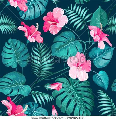 hawaii pattern photoshop tropical flower seamless pattern blossom flowers for