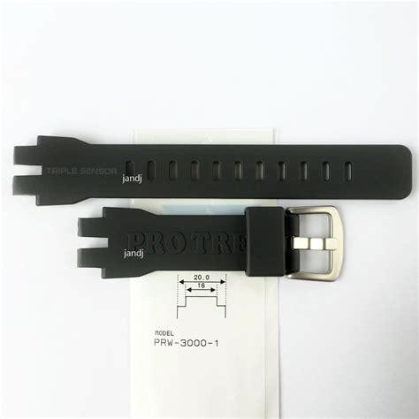 Casio Prw 3000 1 Original orginal casio pro trek replacement band prw3000 1