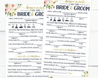 Wedding Advice Cards For Reception by Wedding Advice Cards Etsy