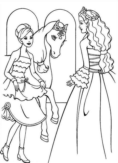coloring pages barbie horse free coloring pages of horse riding