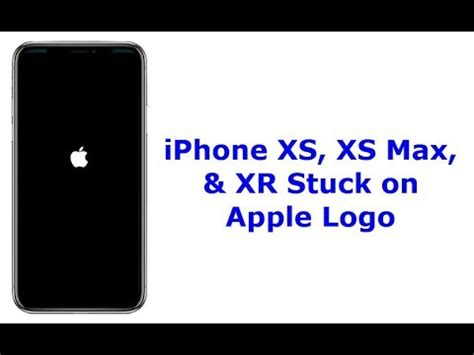 iphone xs xs max and xr stuck on apple logo white black screen