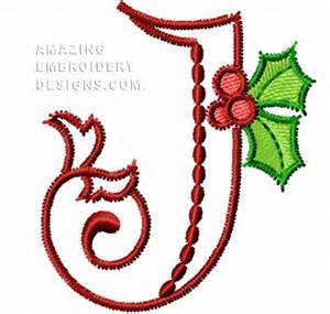 free embroidery design letter j