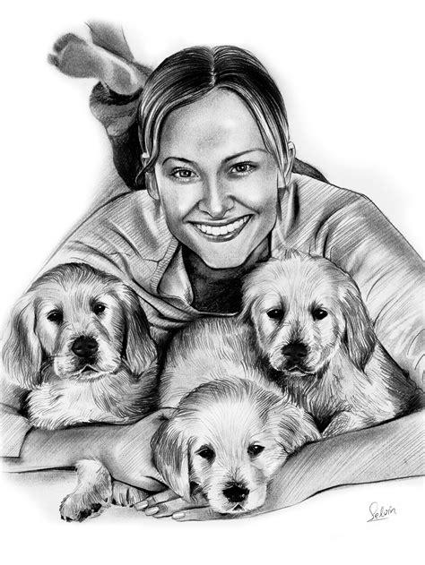 Pet Portraits - Pencil Sketch - For Pet Lovers