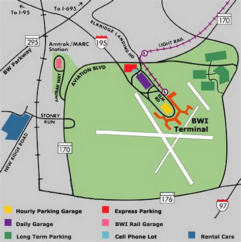 bwi airport map airport parking map bwi airport parking map jpg