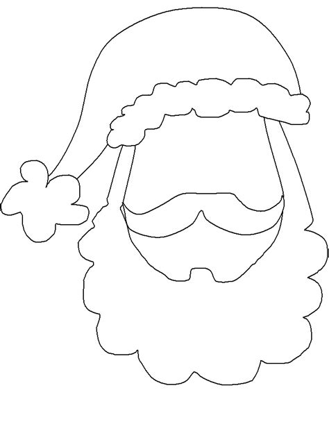 printable santa head santa face template party planner photo booth props