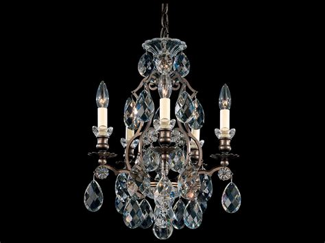 Schonbek Mini Chandelier Schonbek Renaissance Five Light 14 Wide Mini Chandelier S53769