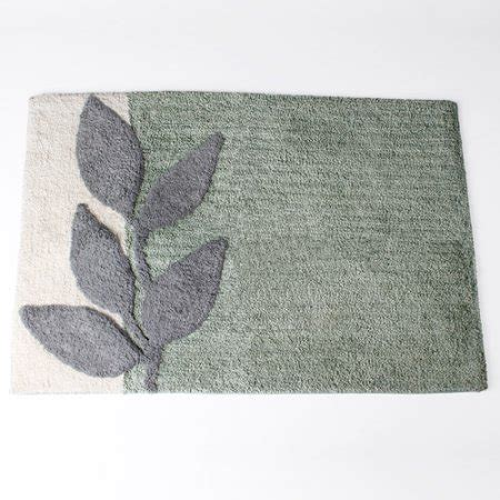 Silver Bathroom Rugs Mainstays Silver Leaves Bath Rug Walmart