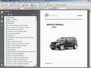 mercedes w163 service repair workshop manual ebay