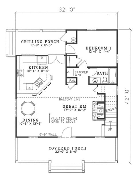 country cabin floor plans floor plan of cabin country southern vacation house plan 62118 culture scribe