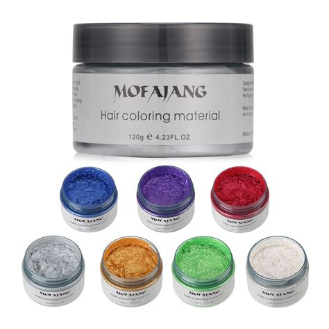 colored wax unisex diy hair color wax mud dye temporary modeling