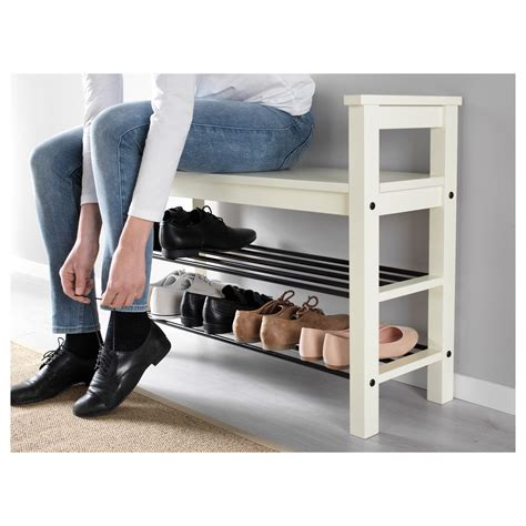 shoe storage bench white hemnes bench with shoe storage white 85x32 cm ikea