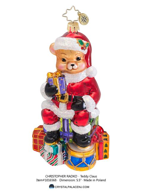 Radko Ornaments Sale - christopher radko teddy claus ornament