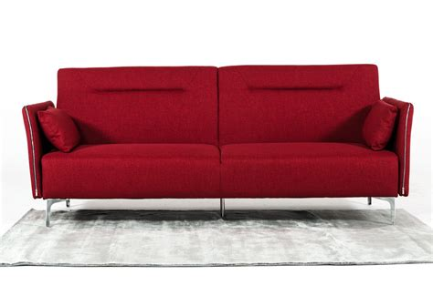 red fabric sofa bed divani casa davenport modern red fabric sofa bed