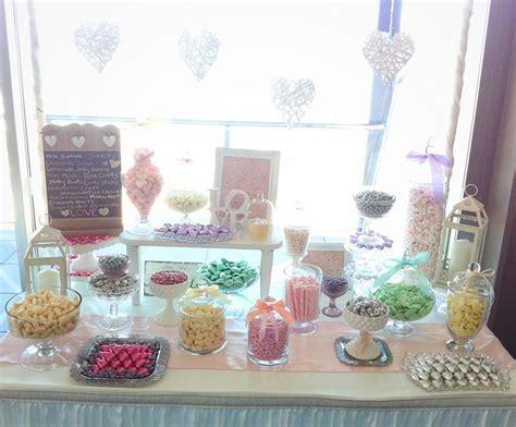 shabby chic candy buffet lolly buffet wedding at