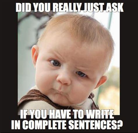 Meme Sentences - rockin resources writing mini lesson 3 fragments