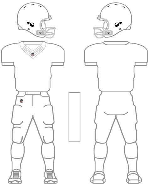 nfl uniform coloring pages printable nfl football jersey template google search