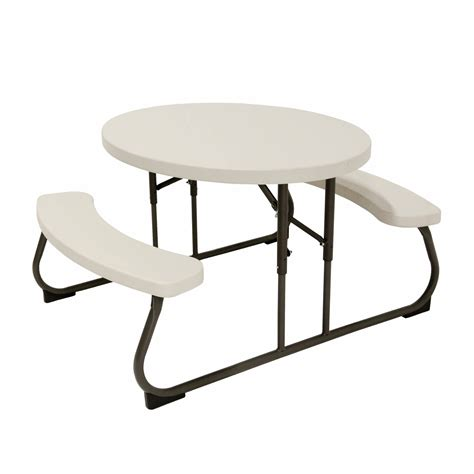 lifetime picnic table lifetime oval picnic table bj s wholesale