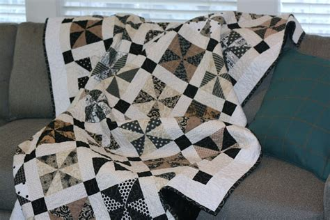 Moda Black Dress Quilt Pattern by A Bit Biased Norma Jeane Quilt Finished
