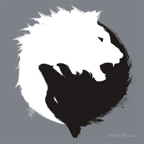 minimalist tattoo lion the wolf and the lion minimalist yin yang inspired t