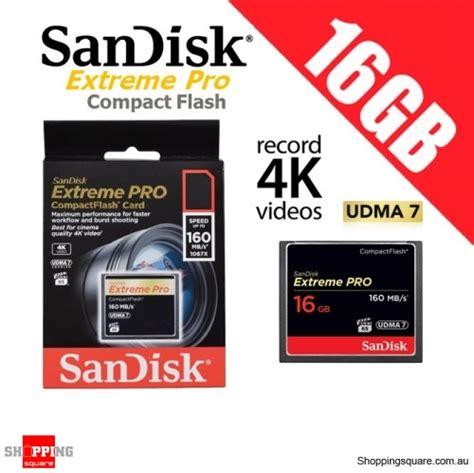 Memory Card Untuk Dslr sandisk pro 16gb compact flash memory card 160mb s for 4k hd dslr digital