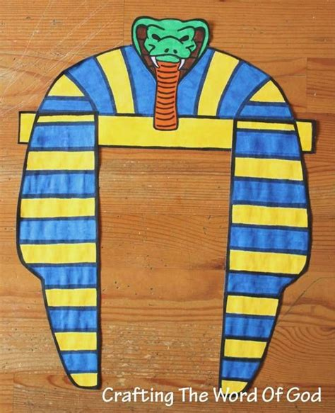 pharaoh crown template pharaohs dress this craft can be done for different