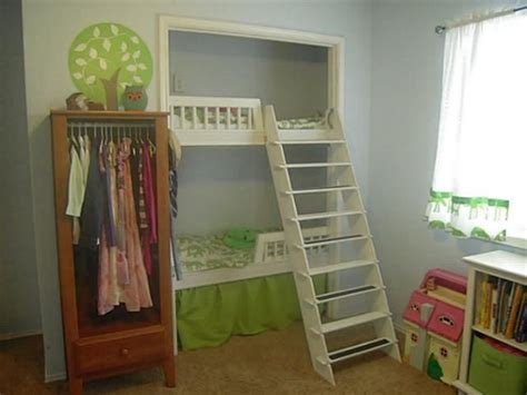 Bunk Bed With Closet Best 25 Bed In Closet Ideas On Closet Bed