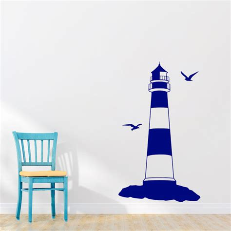 lighthouse wall stickers wall decal lighthouse nautical decal bedroom stickers