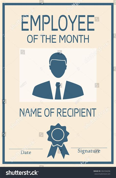 employee month poster illustration vector stock vector
