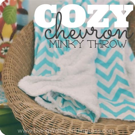 diy blanket diy cozy chevron minky throw crafts sewing ideas diy