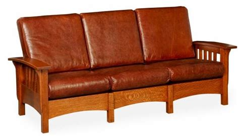 morris sofa in classic mission style wide slats
