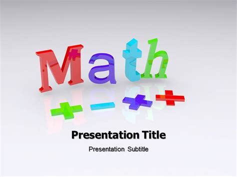free math powerpoint templates for teachers targer