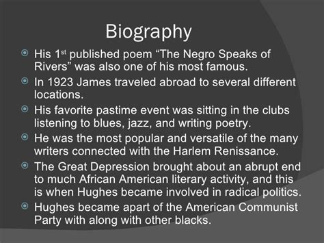 langston hughes biography outline langston hughes powerpoint doc