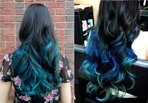 hairstyles to do with dyed hair dark black brown to pastel ombre hair color trends 2015