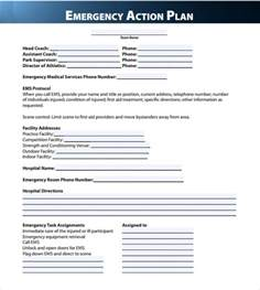 Emergency Plan Template For Businesses by Sle Emergency Plan Template 9 Documents In