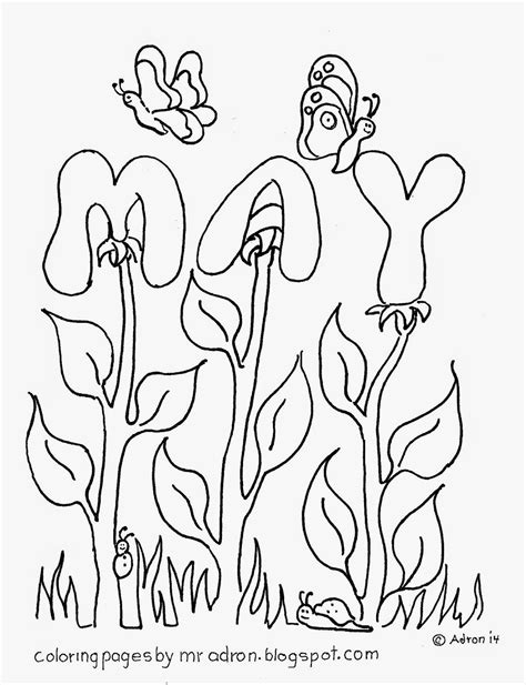 coloring pages for kids by mr adron the month of may