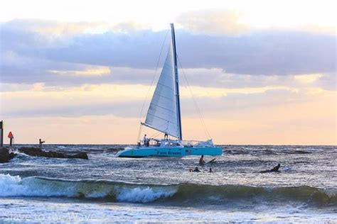 catamaran cruise delray beach palm breeze surf sailing out boca inlet picture of palm