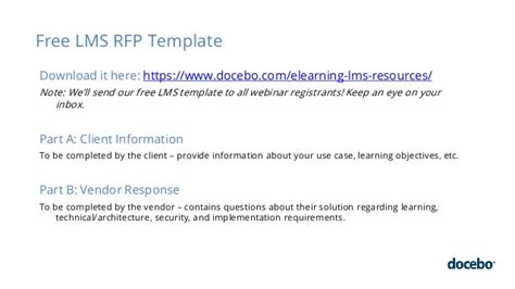 how to create an effective rfp for your lms project