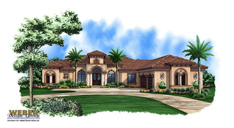 One Story Tuscan House Plans by Mediterranean House Plan 1 Story Mediterranean Luxury