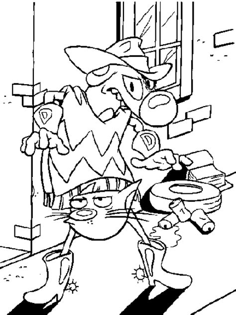 catdog coloring pages    print