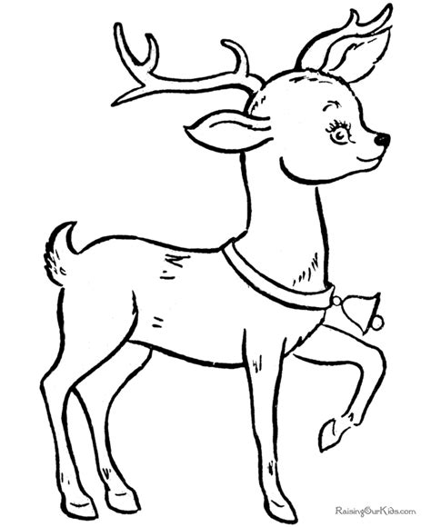 printable reindeer images christmas reindeer coloring pages 011