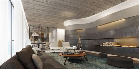 ando studio penthouse living area interior design ideas