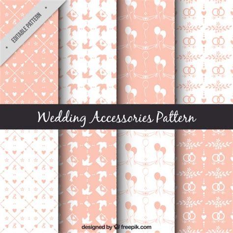 freepik wedding pattern cute several wedding patterns in pink color vector free