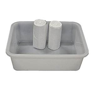 Plastic Foot Basin For Detox by White Rectangular Foot Basin With 100 Liners