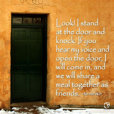 Stand At The Door And Knock by Look I Stand At The Door And Knock If You Hear Voice
